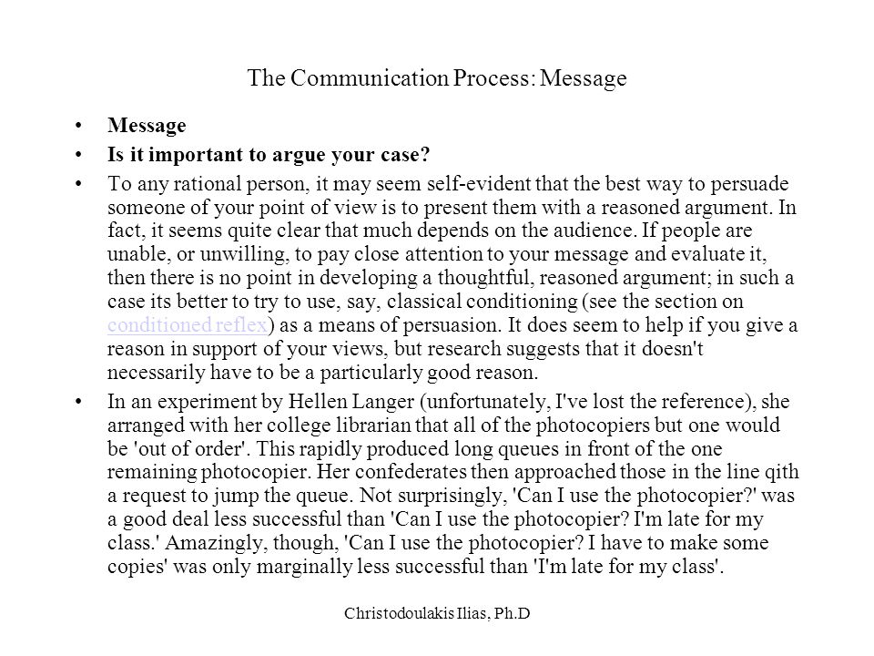 The Communication Process: Message