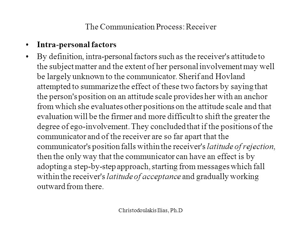 The Communication Process: Receiver