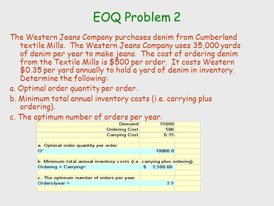 EOQ Problem 2