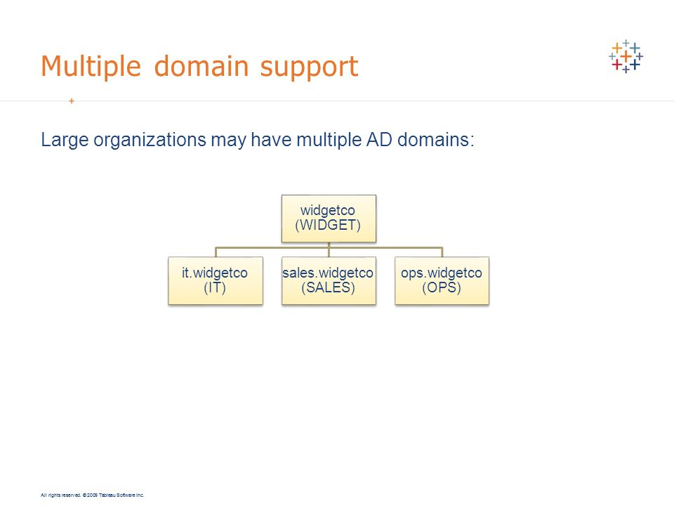 Multiple domain support