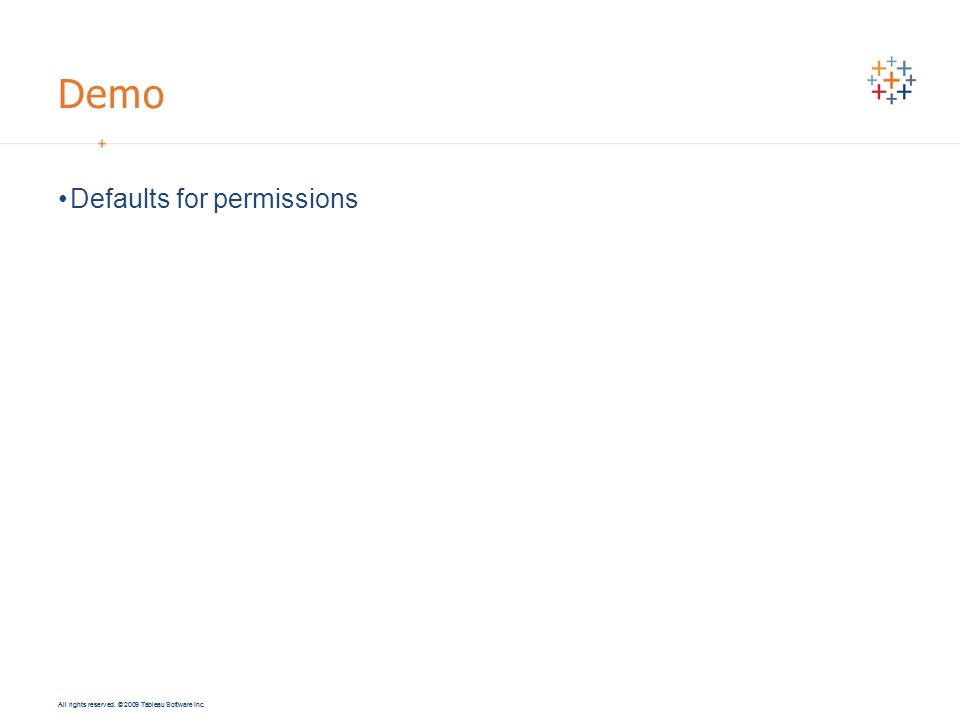 Demo Defaults for permissions