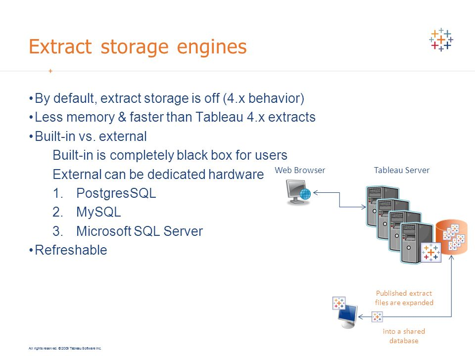 Extract storage engines