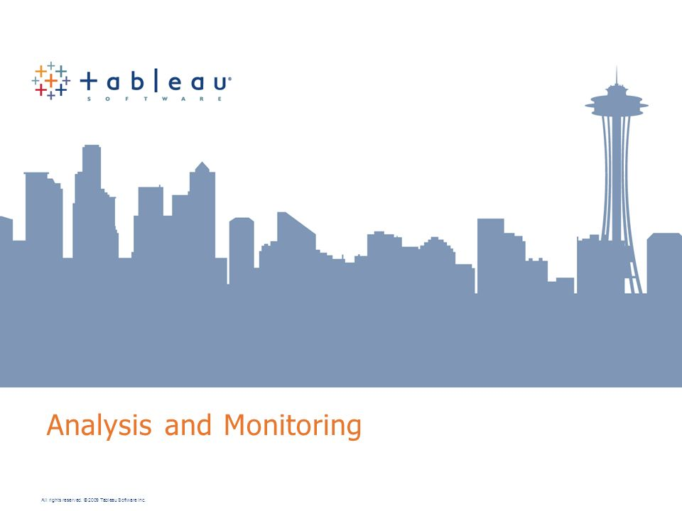 Analysis and Monitoring