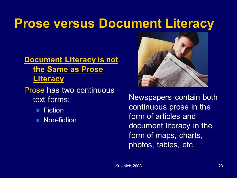 Prose versus Document Literacy