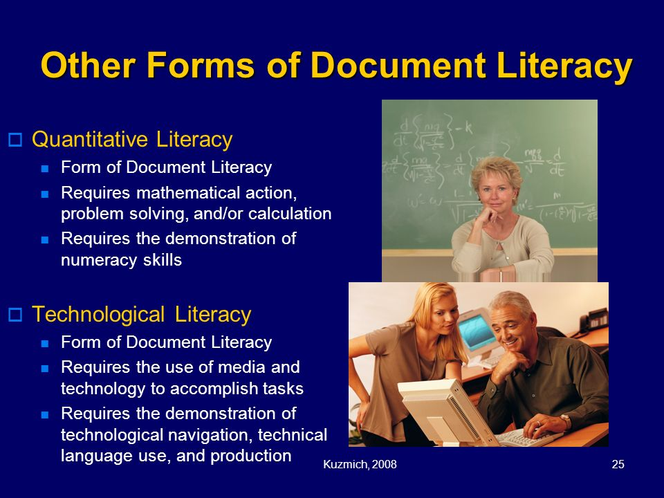 Other Forms of Document Literacy