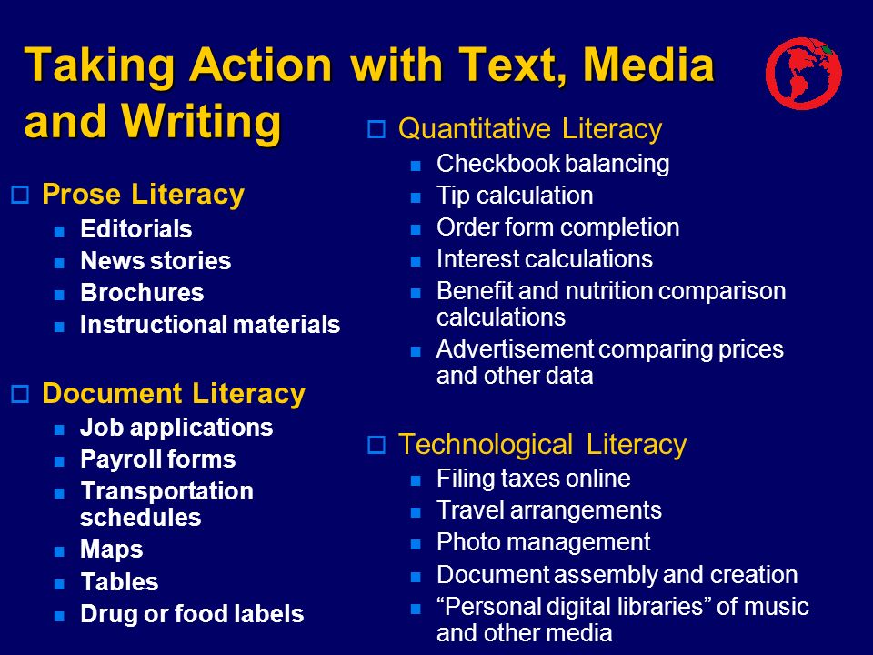 Taking Action with Text, Media and Writing