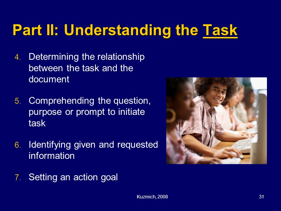 Part II: Understanding the Task