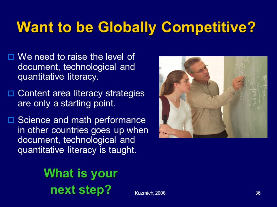 Want to be Globally Competitive