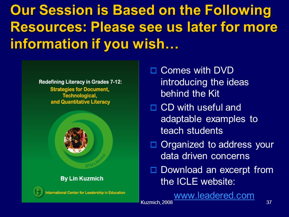 Our Session is Based on the Following Resources: Please see us later for more information if you wish…
