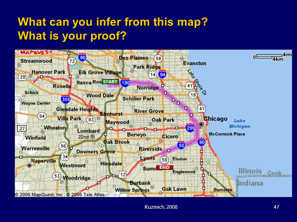 What can you infer from this map What is your proof