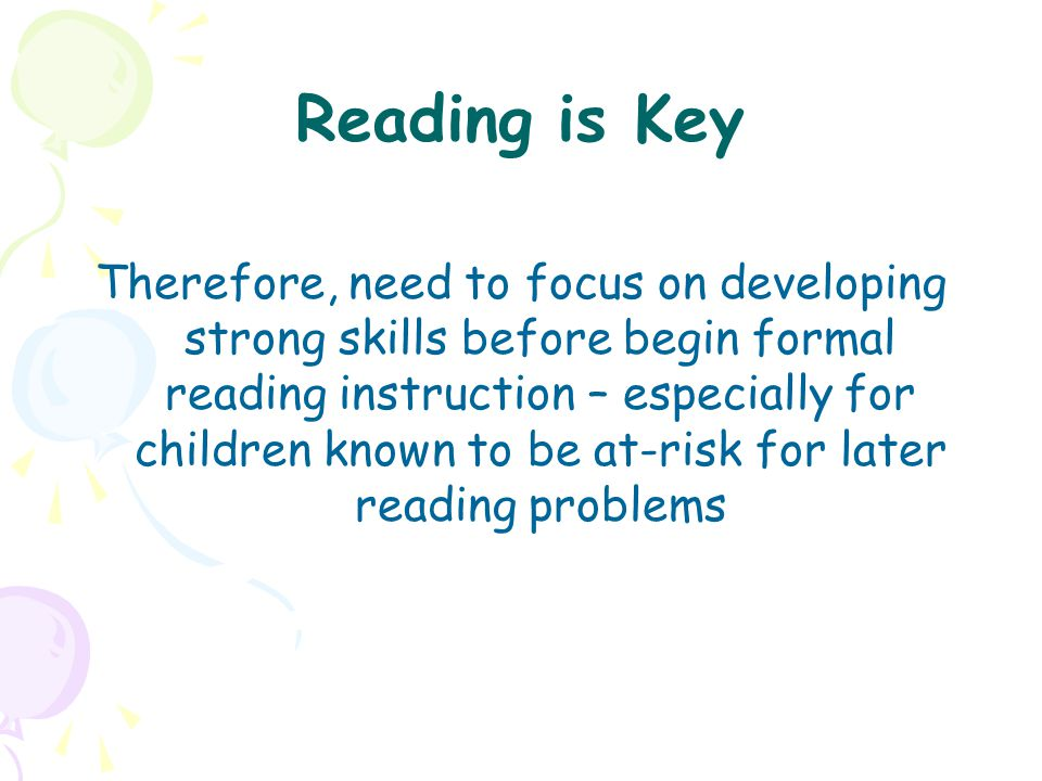 Reading is Key