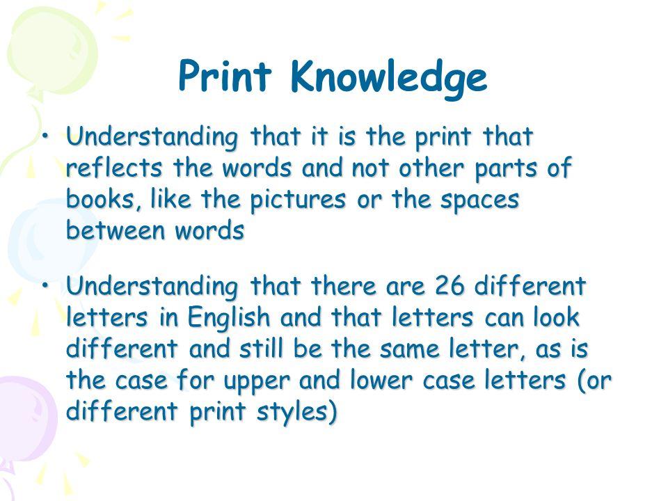 Print Knowledge