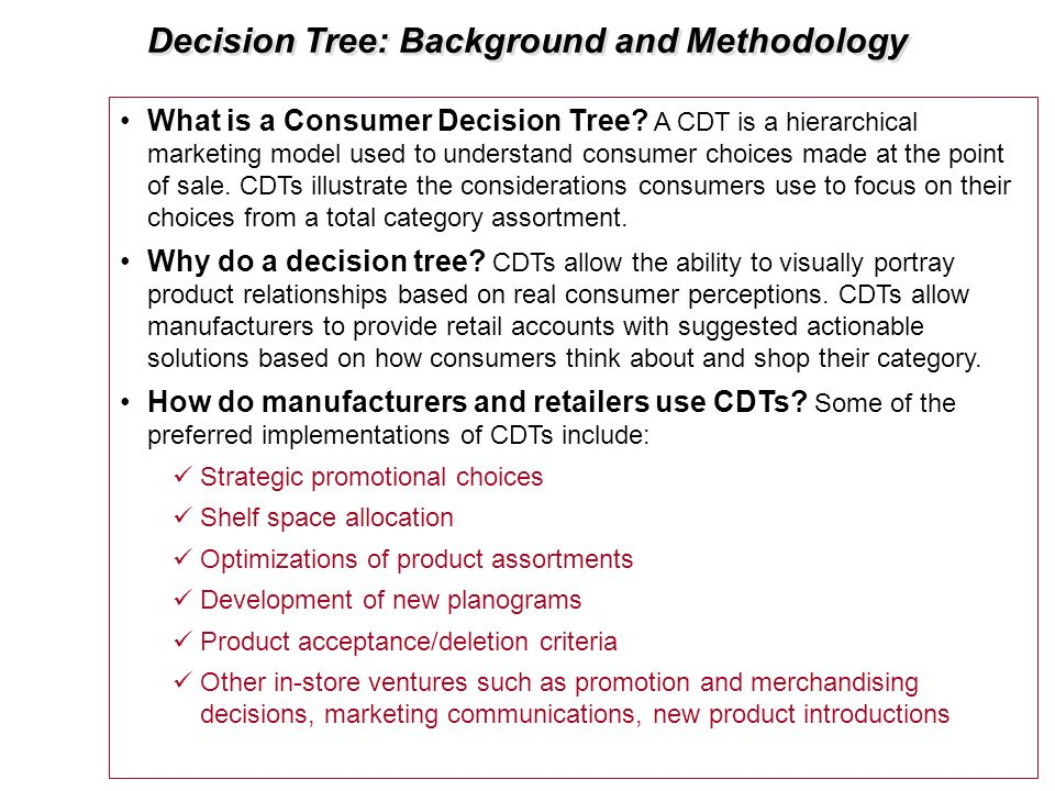 Decision Tree: Background and Methodology
