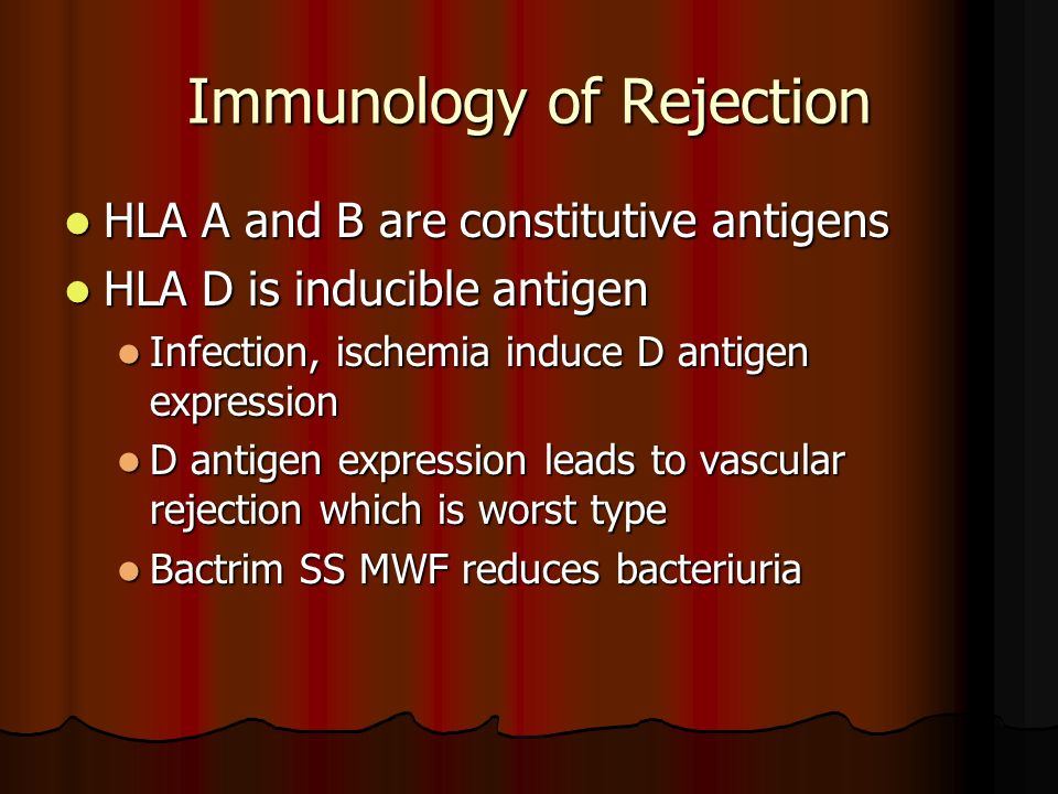Immunology of Rejection