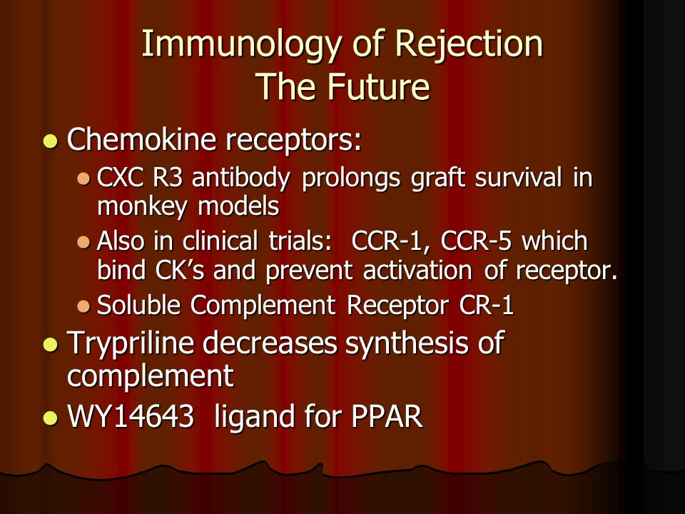 Immunology of Rejection The Future