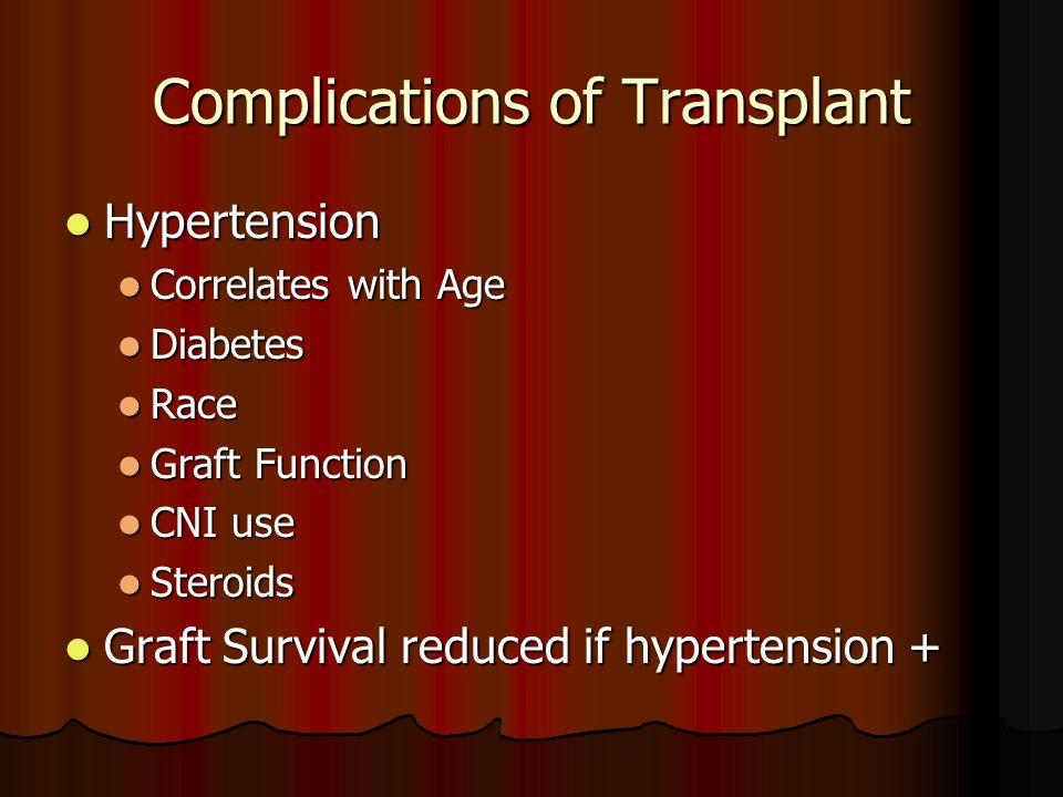 Complications of Transplant