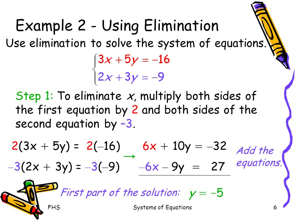 solving systems of equations using elimination ppt video online download. Black Bedroom Furniture Sets. Home Design Ideas