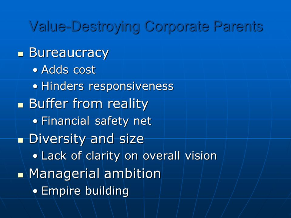 Value-Destroying Corporate Parents