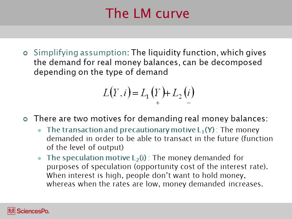 The LM curve