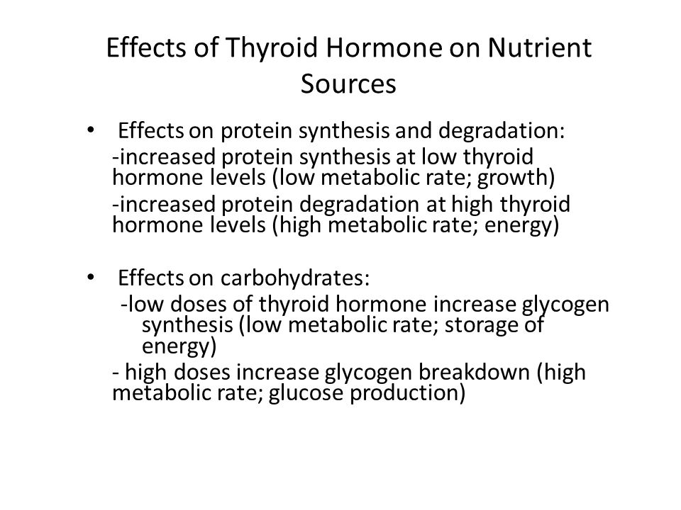 Effects of Thyroid Hormone on Nutrient Sources