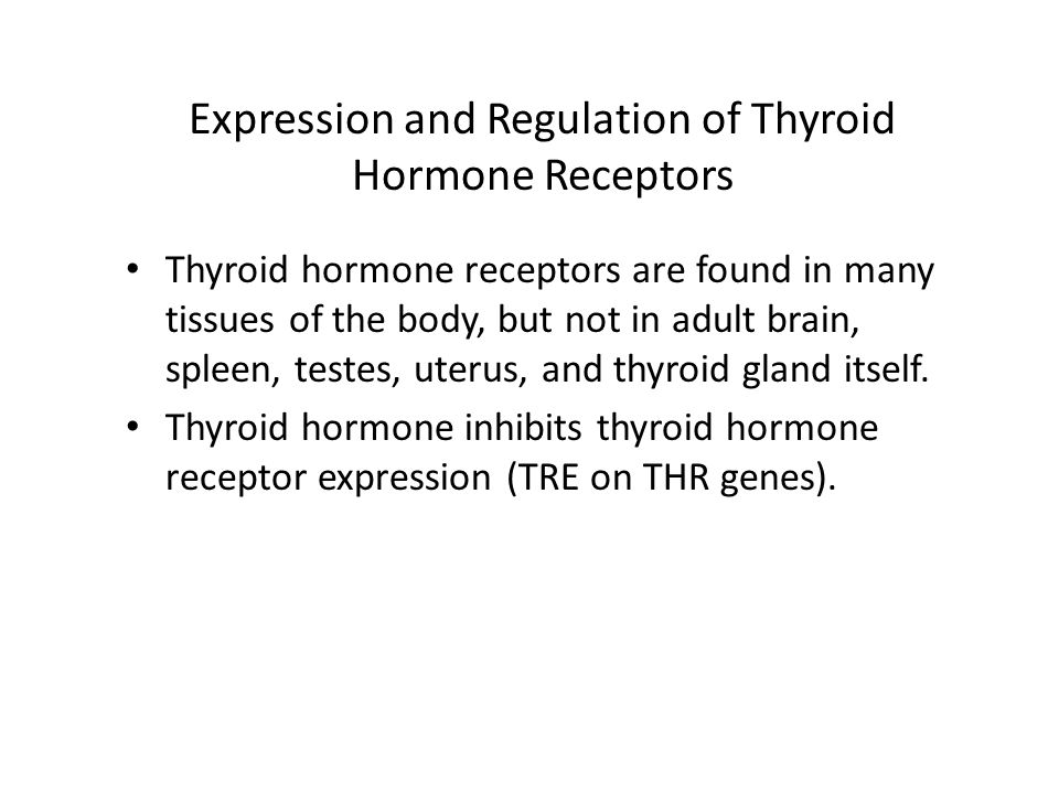 Expression and Regulation of Thyroid Hormone Receptors