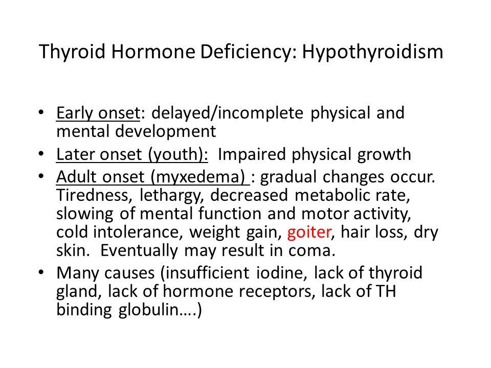 Thyroid Hormone Deficiency: Hypothyroidism