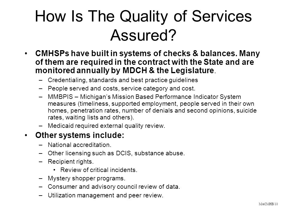 How Is The Quality of Services Assured