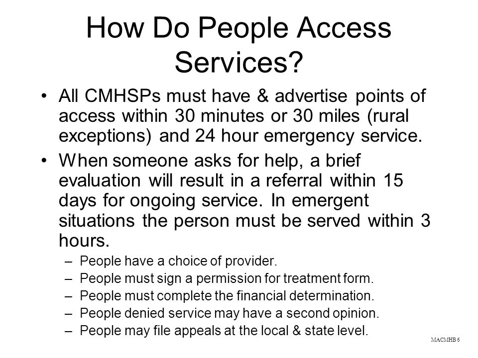How Do People Access Services
