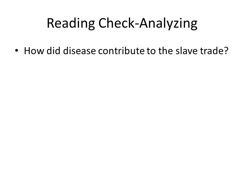 Reading Check-Analyzing