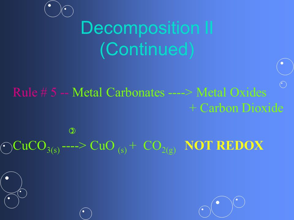 Decomposition II (Continued)