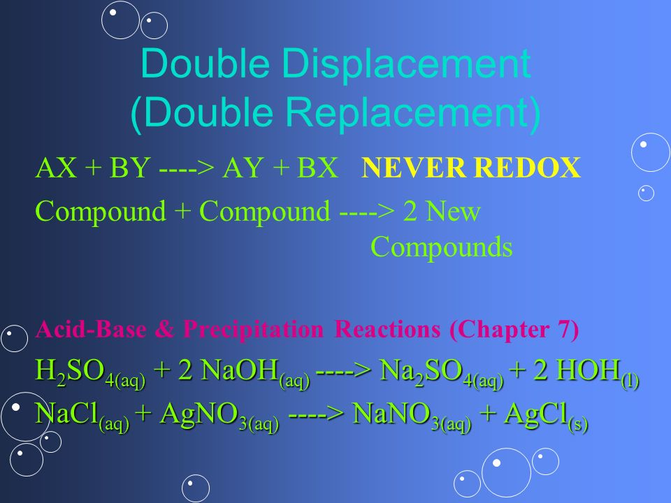 Double Displacement (Double Replacement)