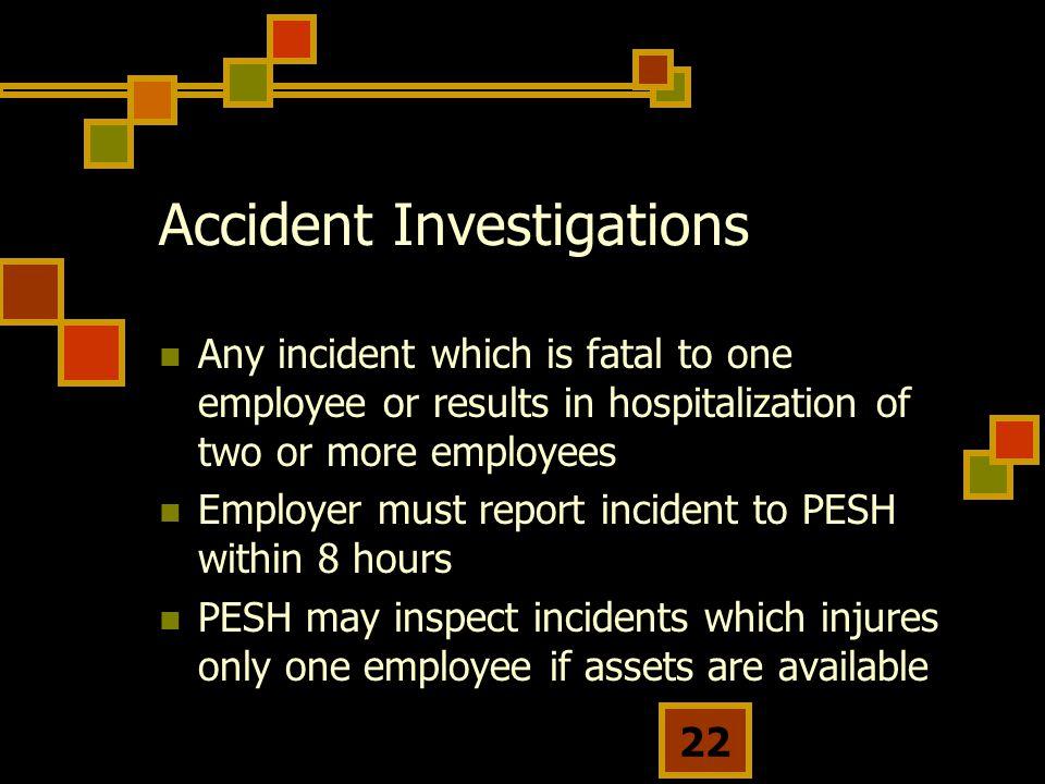 Accident Investigations