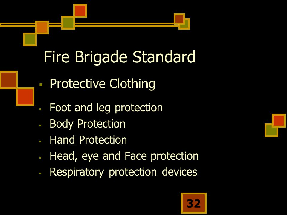 Fire Brigade Standard Protective Clothing Foot and leg protection