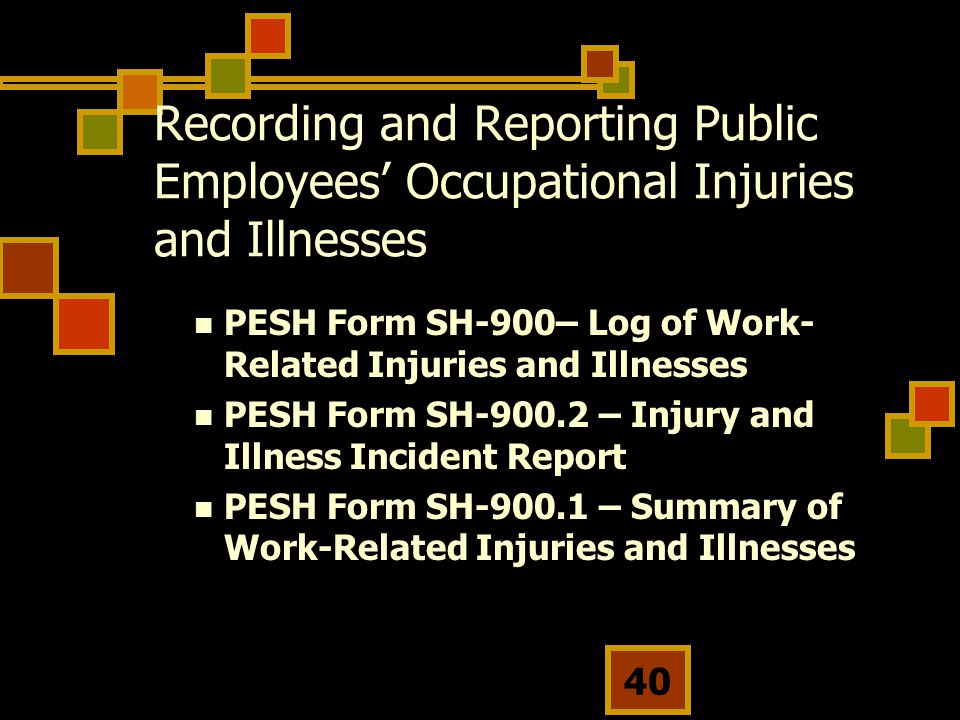 Recording and Reporting Public Employees' Occupational Injuries and Illnesses