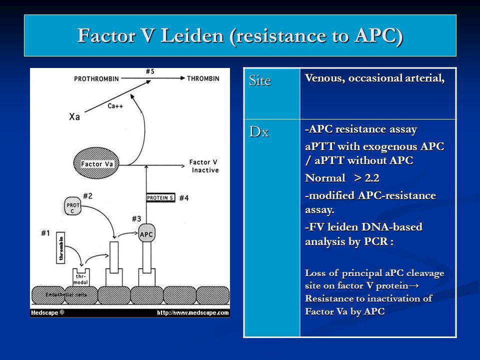 Factor V Leiden (resistance to APC)