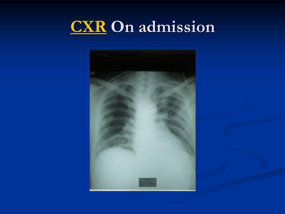 CXR On admission