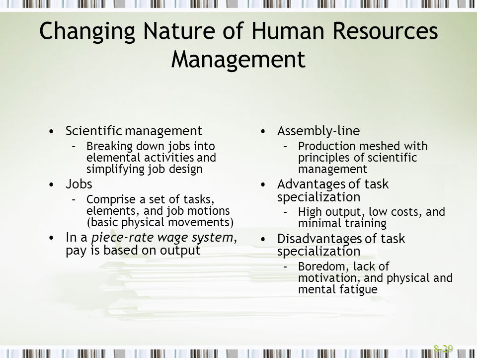 Changing Nature of Human Resources Management