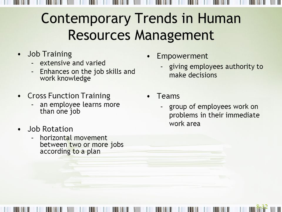 Contemporary Trends in Human Resources Management