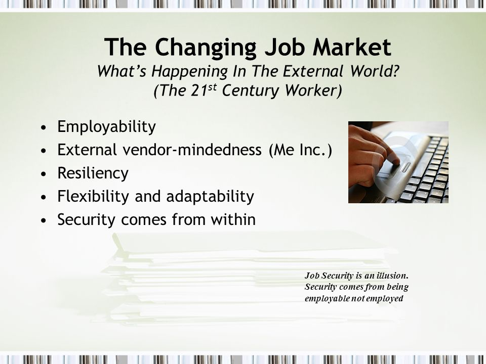 The Changing Job Market What's Happening In The External World