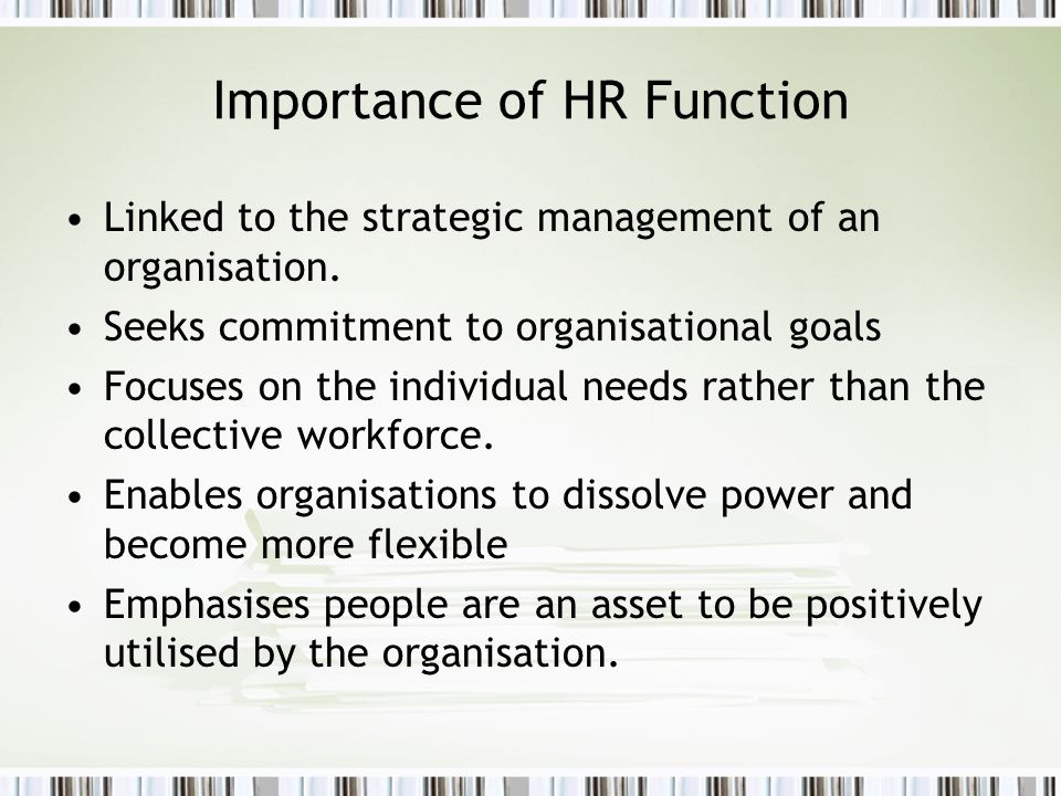 Importance of HR Function