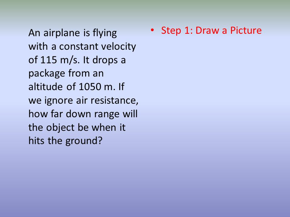 Step 1: Draw a Picture