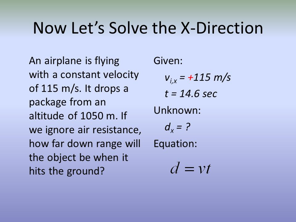 Now Let's Solve the X-Direction