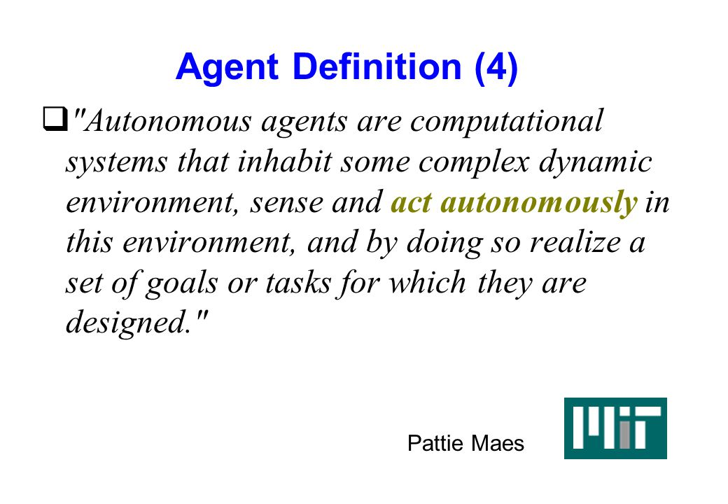 Agent Definition (4)