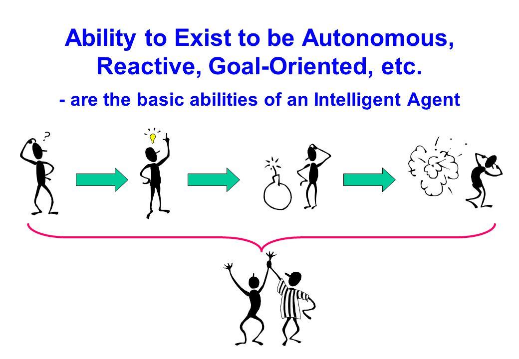 Ability to Exist to be Autonomous, Reactive, Goal-Oriented, etc