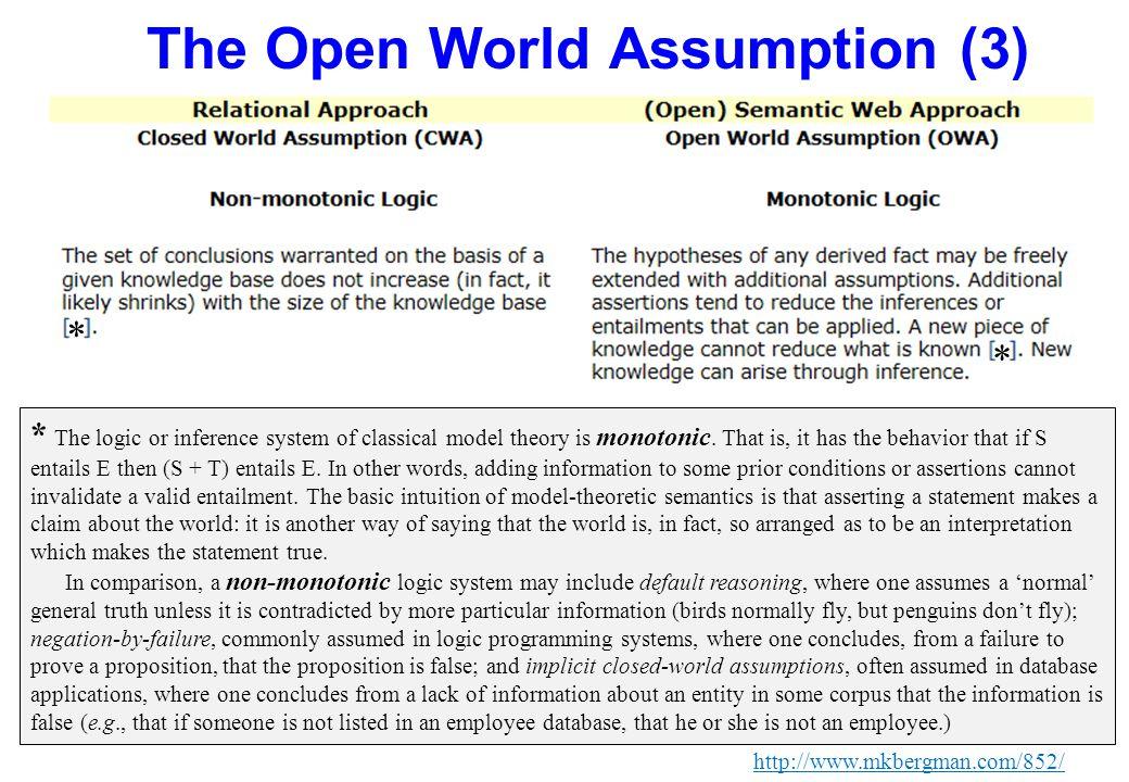The Open World Assumption (3)
