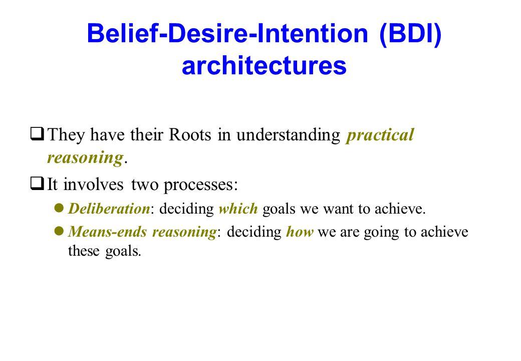 Belief-Desire-Intention (BDI) architectures