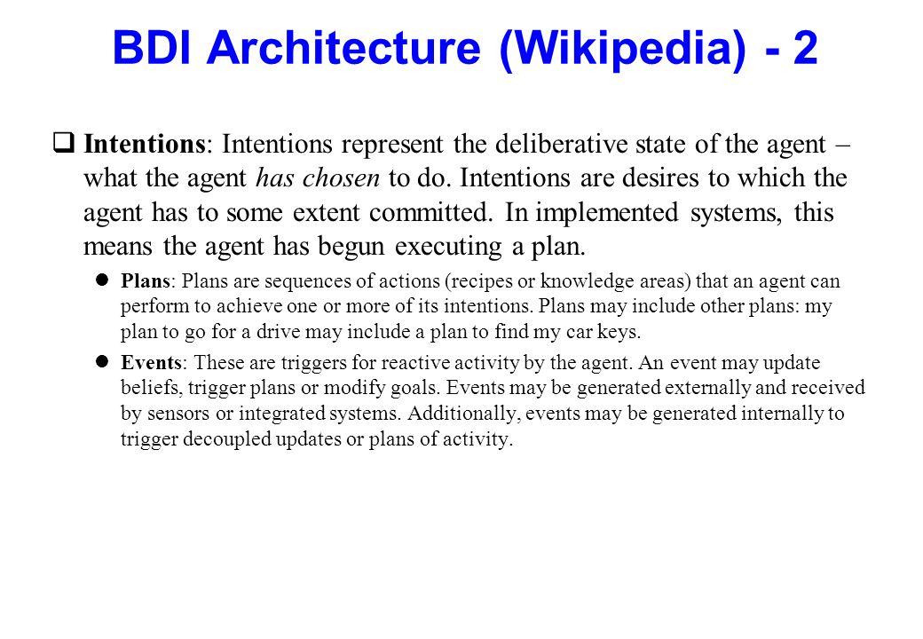 BDI Architecture (Wikipedia) - 2
