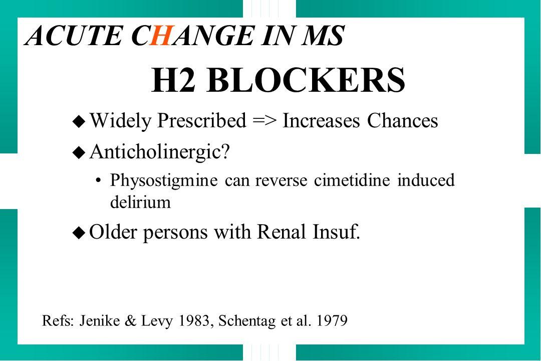 H2 BLOCKERS ACUTE CHANGE IN MS