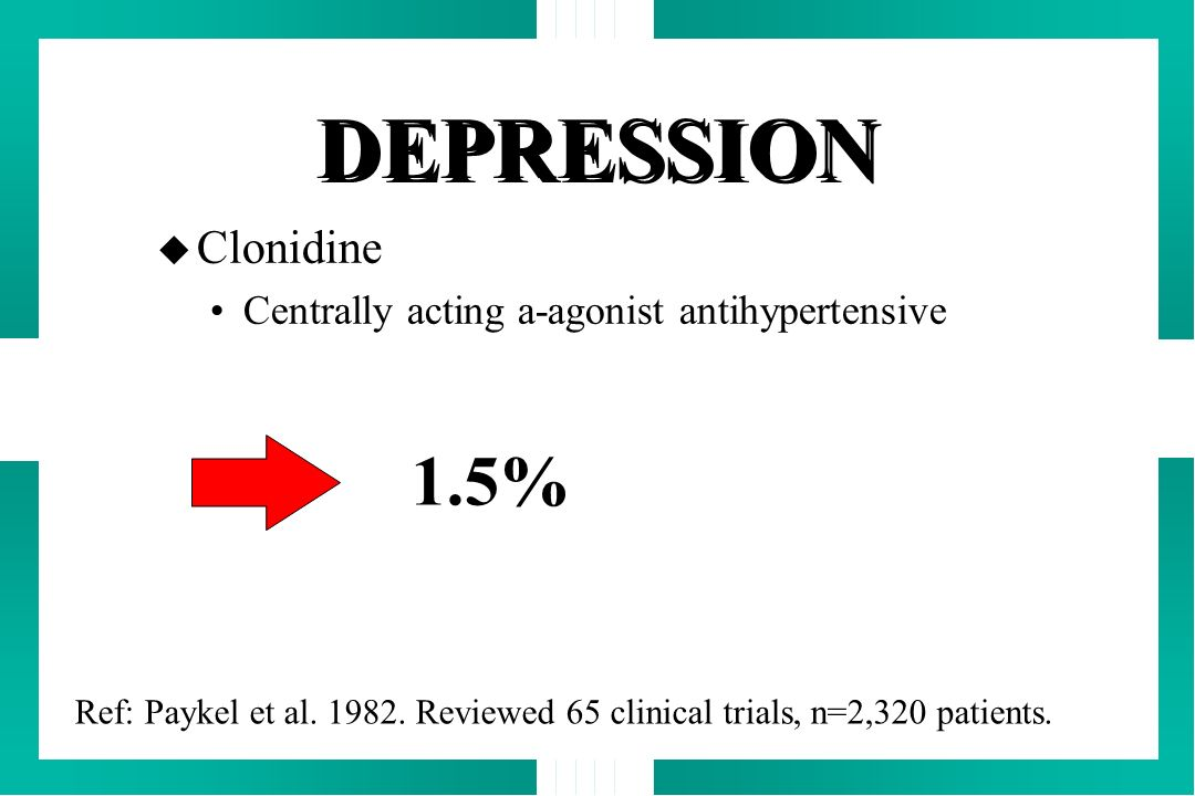 Clonidine Centrally acting a-agonist antihypertensive