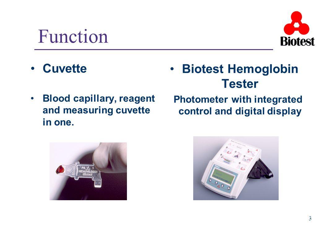 Function Cuvette Biotest Hemoglobin Tester